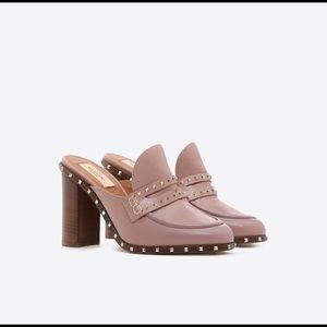 New Valentino Garavani Rockstud Loafer Mules